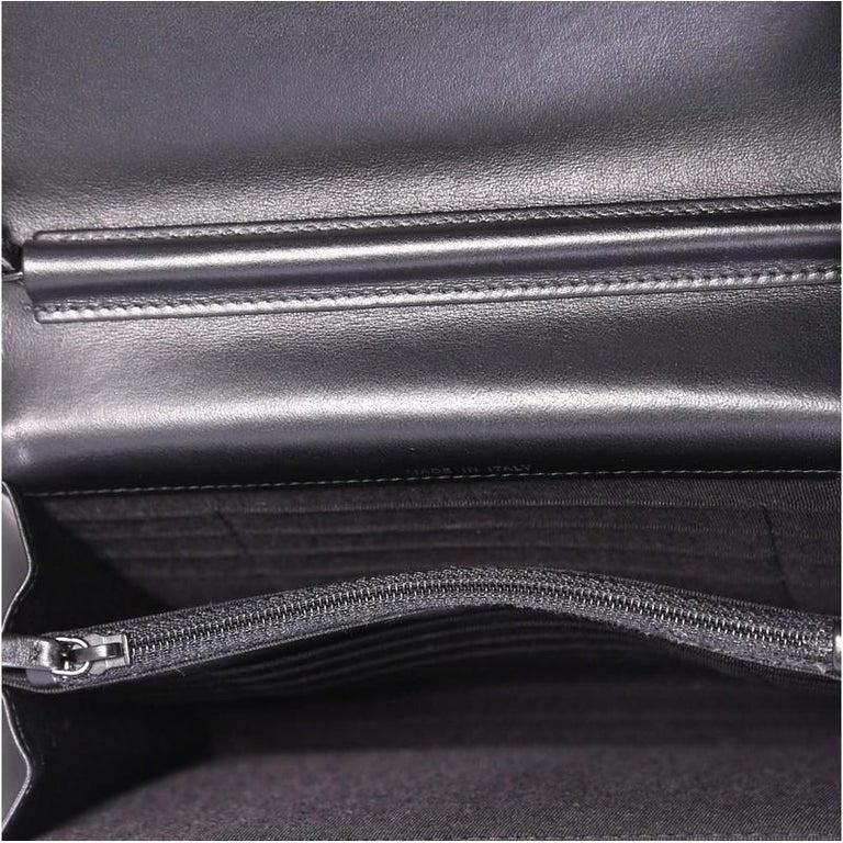 cba85383665e7b Chanel So Black Reissue Square Wallet on Chain Chevron Aged Calfskin, For  Sale 2