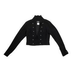 CHANEL Spencer Jacket in Black Wool Size 42FR