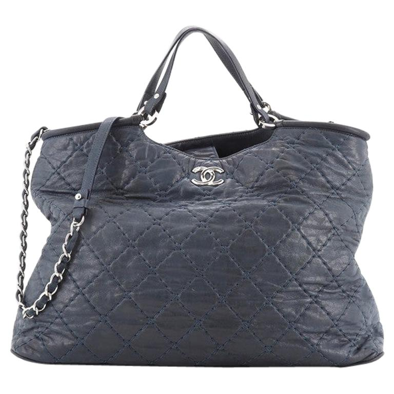 Chanel Spiral Sea Hit Tote Quilted Iridescent Calfskin Large