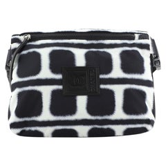 Chanel Sport Line Zip Messenger Bag Printed Nylon Small