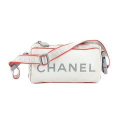 Chanel Sports Line Roll Shoulder Bag Coated Canvas Small