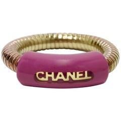 Chanel Spring 2001 Magenta Logo Ring