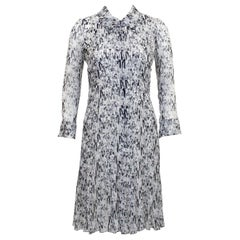 Chanel Spring 2003 Coco Chanel Chiffon Shirtdress