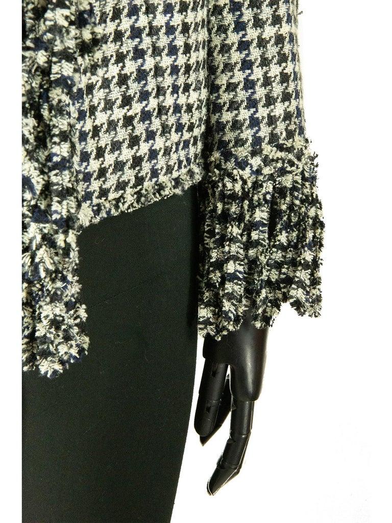 Black Chanel Spring 2007 Dogtooth Jacket For Sale