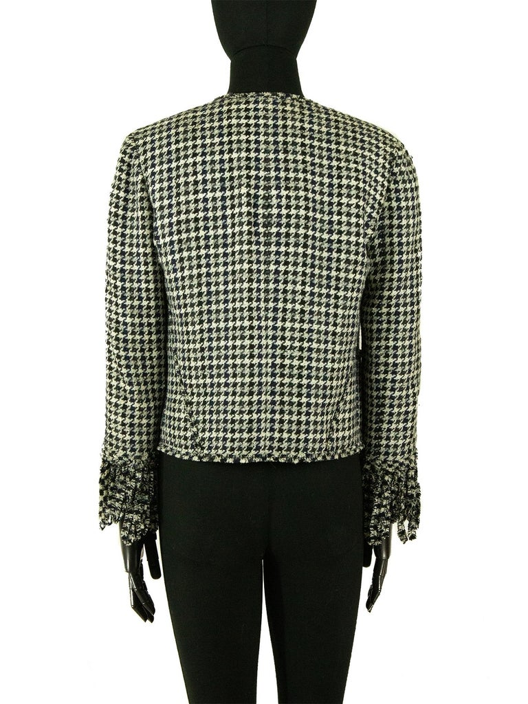 Women's Chanel Spring 2007 Dogtooth Jacket For Sale
