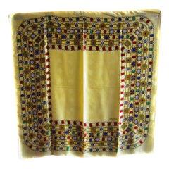 Chanel Square Gold Heavy Silk