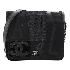 Chanel Square Wallet on Chain Mixed Media Patchwork