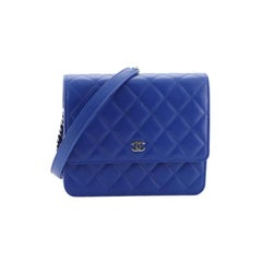 Chanel Square Wallet on Chain Quilted Lambskin
