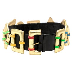 Chanel SS 1988 Geometric Belt