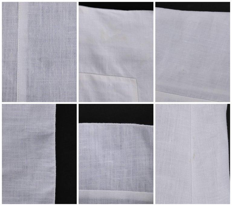 CHANEL S/S 1999 White Linen Floor Length Classic Maxi Skirt NWT For Sale 2