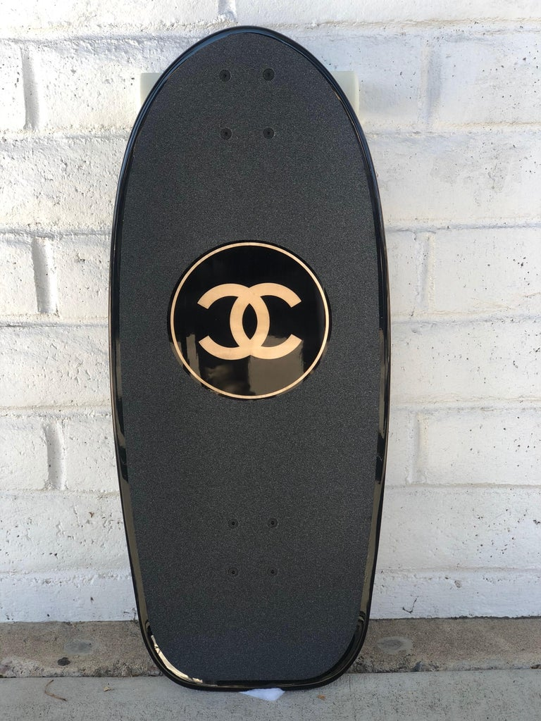 Elevate Your Ride or Decor game with Chanel's Limited Edition Skateboard. A part of the French house's SS19 collection, Chanel has released a luxe skateboard for those looking to add a touch of high fashion to their sport look or interior game.