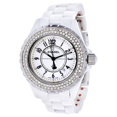 Chanel Stainless Steel J12 Automatic White Ceramic Watch