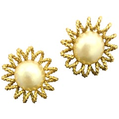 Chanel Starburst Clip-on Earrings
