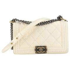Chanel Stitch Boy Flap Bag Quilted Calfskin Old Medium