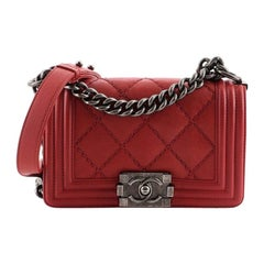 Chanel Stitch Boy Flap Bag Quilted Calfskin Small