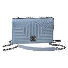 Chanel Stitched Flap Shoulder WOC Bag