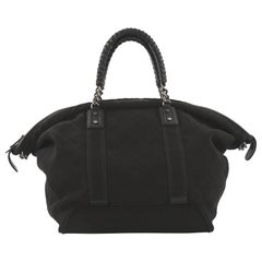 Chanel Street Style Weekender Bag Quilted Canvas