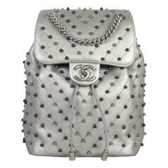 Chanel Stud Wars Metallic Studded Chevron Lambskin Backpack