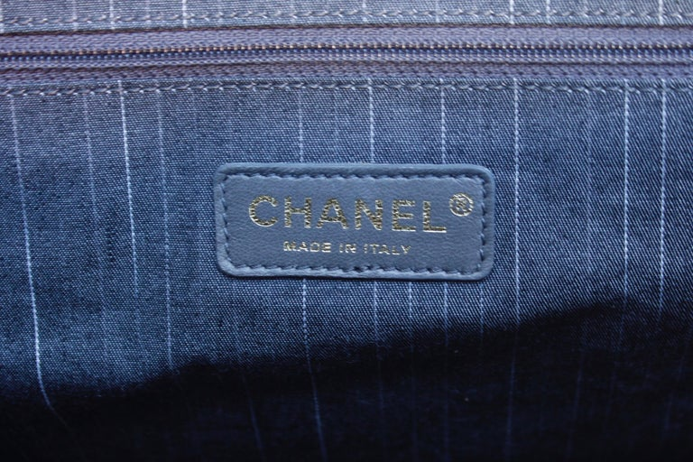 Chanel superb black patent leather and tweed tote bag, 2008 – 2009 For Sale 7