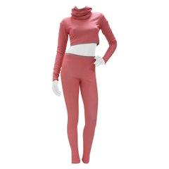 Chanel Supermarket RunwayPink Metallic Viscose Pant Suit