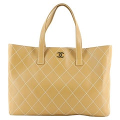 Chanel Surpique Tote Quilted Leather XL