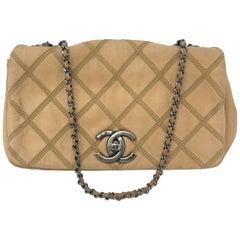 Chanel Tan Cross-Stitch Flap Bag