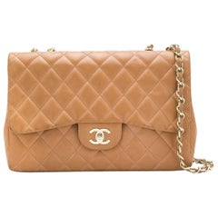 Chanel Tan Jumbo Flap Bag