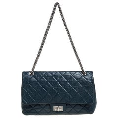 Chanel Teal Quilted Leather Reissue 2.55 Classic 227 Flap Bag