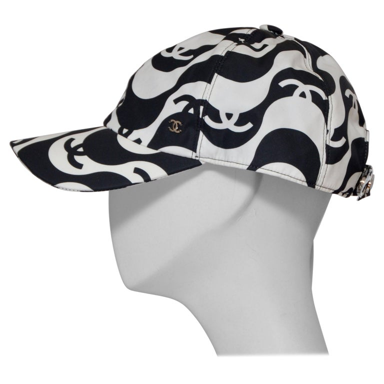 CHANEL Tennis Black/White Hat NEW With Tags For Sale