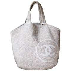 Chanel Terry-Cloth Cotton Beach Bag and Towel Set