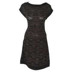 Chanel Textured Knit Dress Black/Purple/Silver Throughout