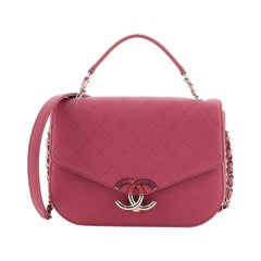 Chanel Thread Around Flap Bag Quilted Caviar Medium