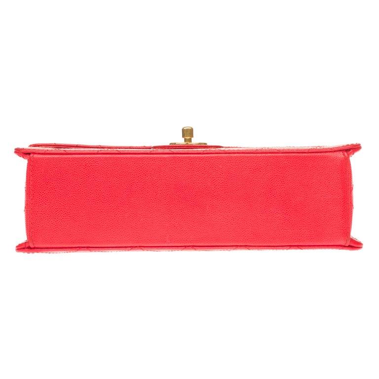 Chanel Timeless 25cm crossbody handbag in red padded caviar leather, GHW 7