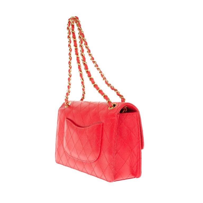 Chanel Timeless 25cm crossbody handbag in red padded caviar leather, GHW 1