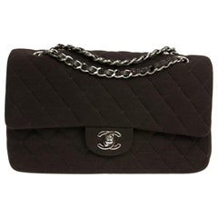 CHANEL Timeless Bag in Brown Jersey Fabric