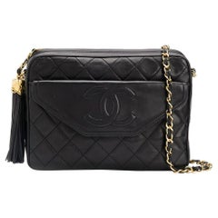 Chanel Timeless Black Quilted Lambskin Camera Bag