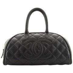 Chanel Timeless CC Bowler Bag Quilted Caviar Medium