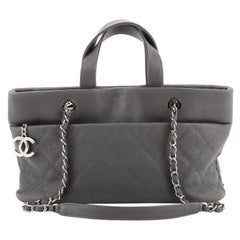 Chanel Timeless CC Charm Tote Quilted Caviar Large
