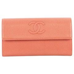 Chanel Timeless CC Flap Wallet Caviar Long
