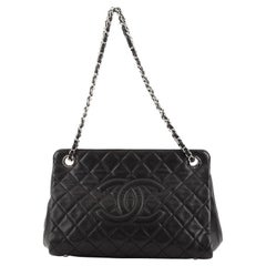 Chanel Timeless CC Frame Tote Quilted Caviar Medium