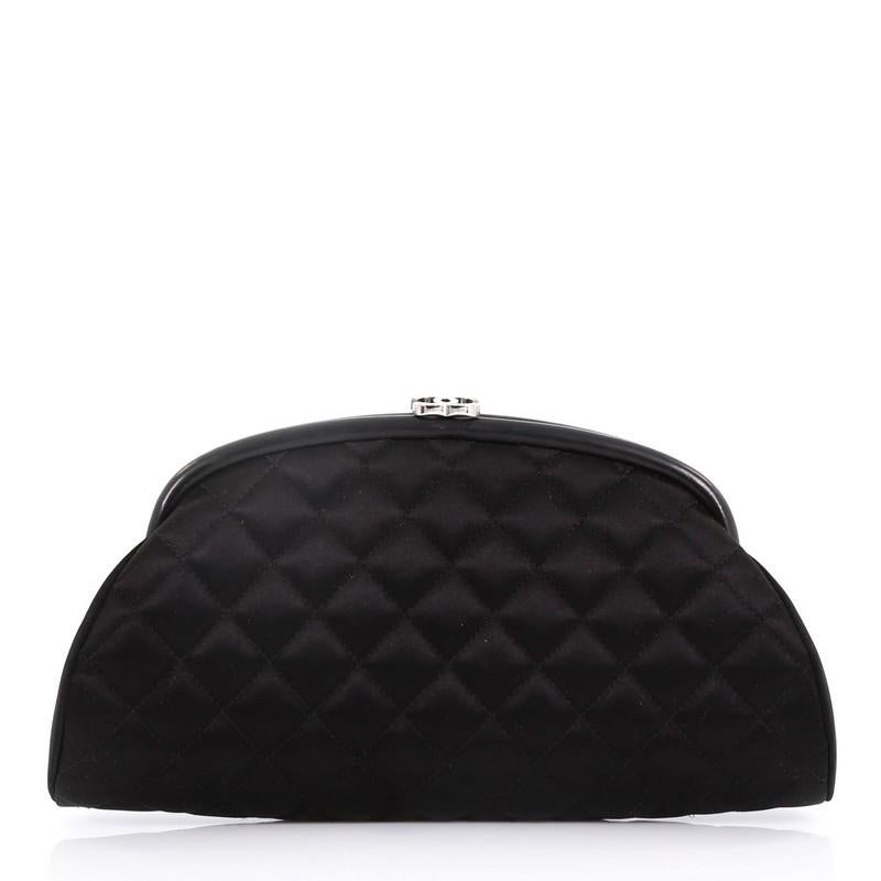 40276f86bc58 Chanel Timeless Clutch Quilted Satin For Sale at 1stdibs
