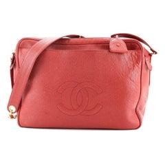 Chanel Timeless Double Zip Shoulder Bag Caviar Medium