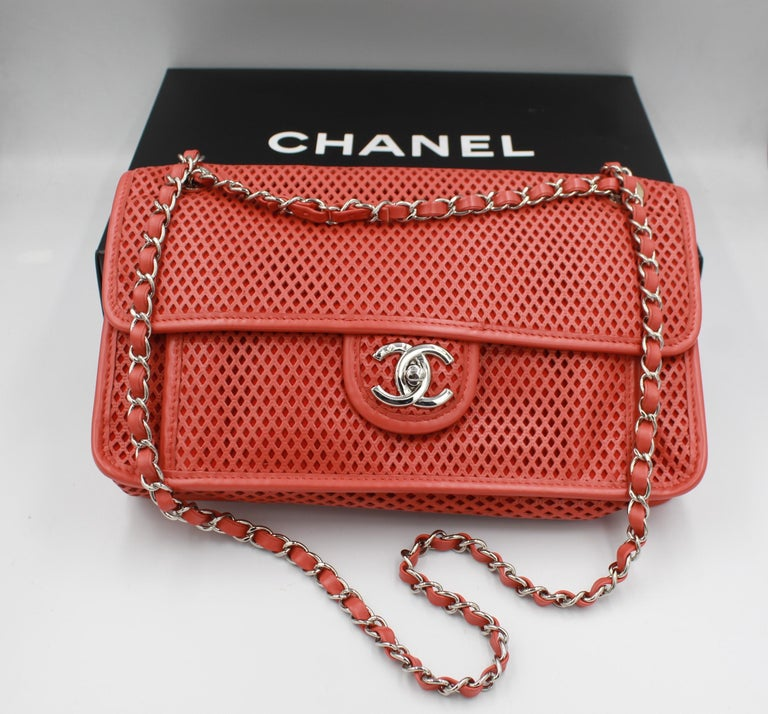 Chanel Timeless handbag in perforated leather For Sale 4