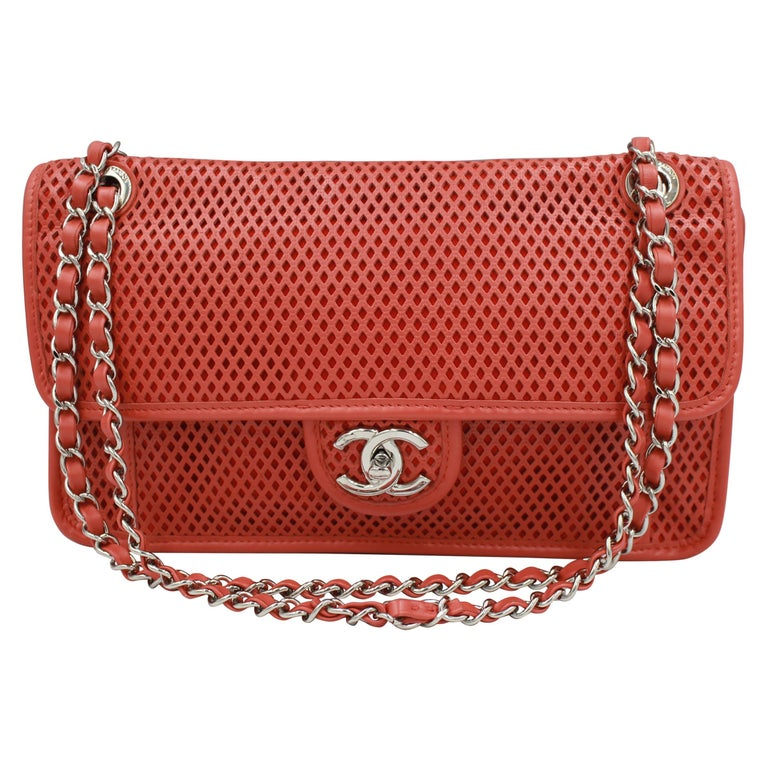 Chanel Timeless handbag in perforated leather For Sale