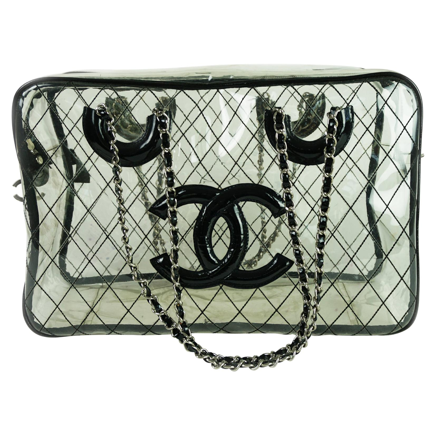 Chanel Timeless Limited Edition Vintage Naked Clear Purse Transparent Tote