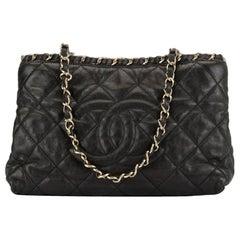 Chanel Timeless Mini Chain Around Shopper Caviar Gst Gold Hardware Black Bag