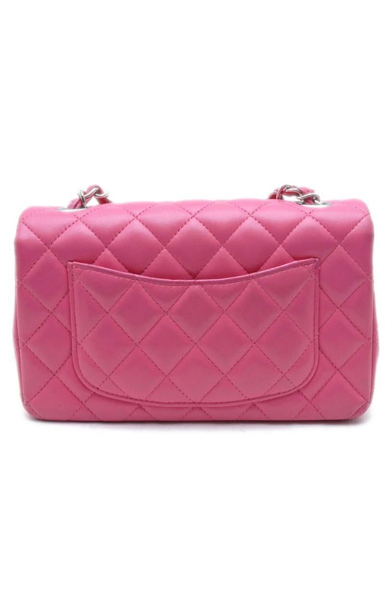 Chanel Timeless medium handbag in Pink quilted leather and Silver hardware Dimensions: Height: 12 cm Depth: 6 cm Length: 20cm Place of Origin: France Material Notes :Quilted Lambskin Leather Condition: Excellent Wear consistent with age and