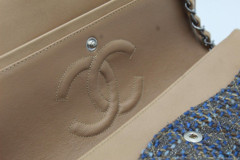 Women's Chanel Timeless Tweed Double Flap 25 cm For Sale