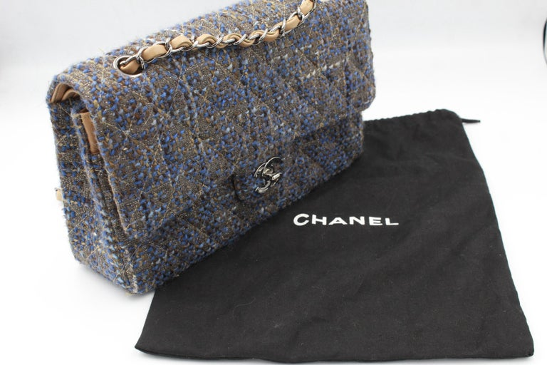 Chanel Timeless Tweed Double Flap 25 cm For Sale 3