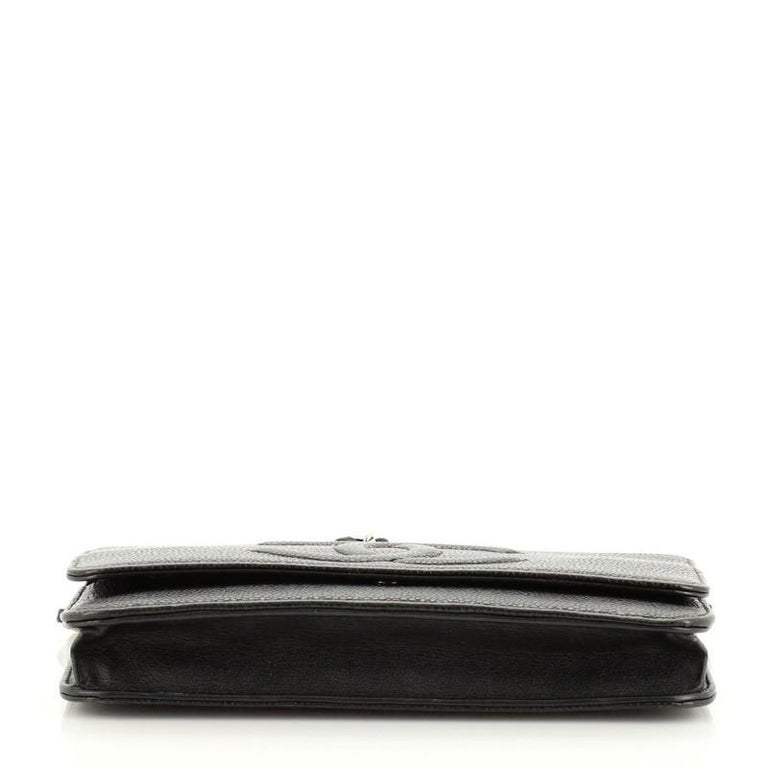 Chanel Timeless Wallet on Chain Caviar In Good Condition For Sale In New York, NY